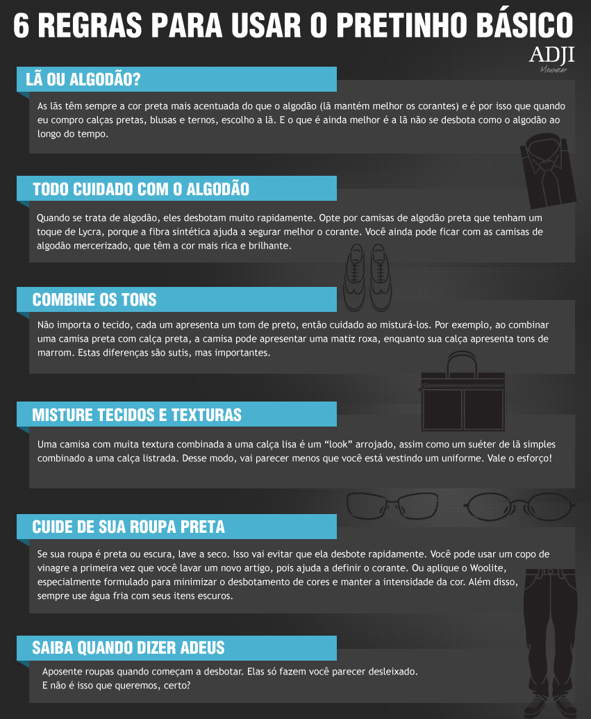 6 regras para usar o pretinho básico